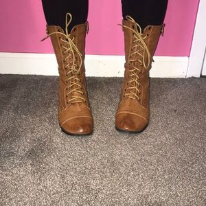 Shoes - Chestnut Combat boots